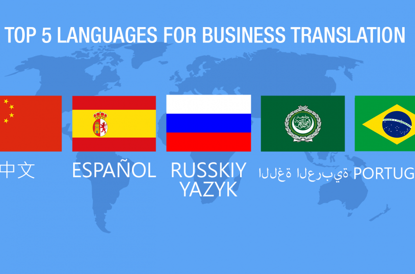 Top 5 Translated Languages for Business